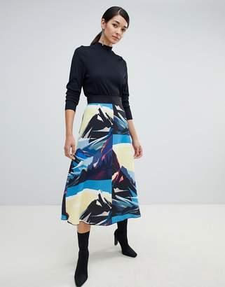 Sportmax CODE Code Scenic A-Line Skirt
