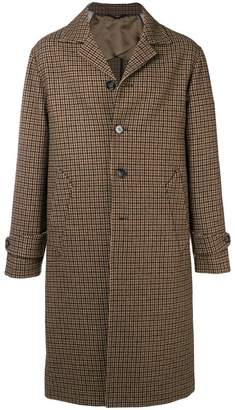 Officine Generale boxy checked coat
