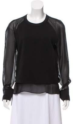 BLK DNM Silk-Trimmed Sweatshirt w/ Tags