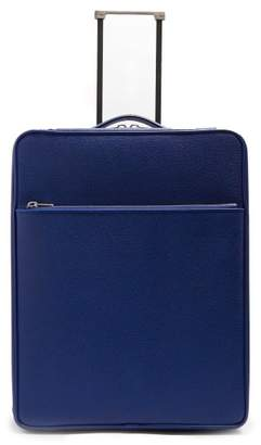 Valextra Leather Cabin Suitcase - Mens - Navy