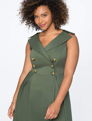 Fit and Flare Trench Dress