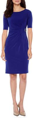 Jessica Howard Elbow Sleeve Sheath Dress