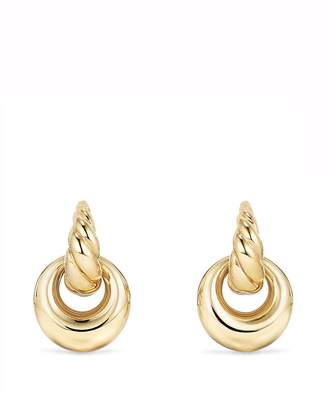 David Yurman Pure Form Drop Earrings in 18K Gold