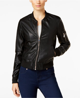 Madden Girl Faux-Leather Bomber Jacket $69.50 thestylecure.com