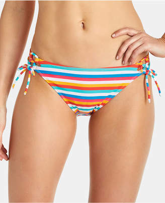 Raisins Juniors' Tahiti Stripe Side-Tie Bikini Bottoms Women Swimsuit