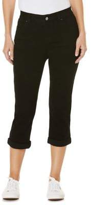 Rafaella Petite Slimming Kick Capri Jeans