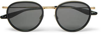 Barton Perreira Corso 52 Round-Frame Acetate and Gold-Tone Titanium Sunglasses - Black