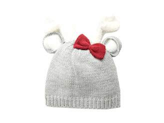 Mud Pie Deer Bow Knitted Hat (Infant)