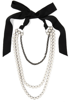 Lanvin - Mariepol Burnished Silver-plated Faux Pearl Necklace - White $1,270 thestylecure.com