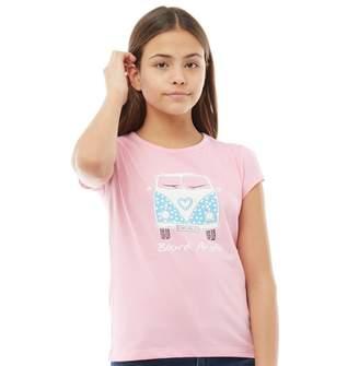 Board Angels Girls Front/Back Print Camper T-Shirt Pink