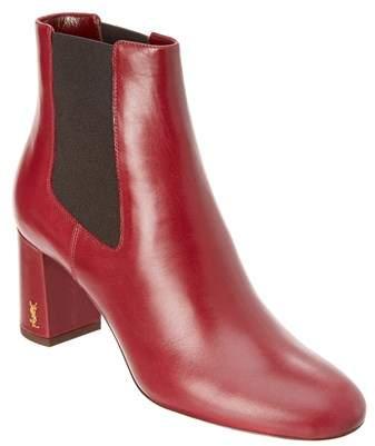 Saint Laurent Lou Lou Leather Ankle Boot.