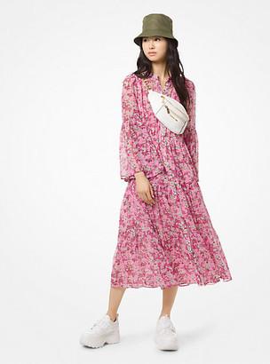 Michael Kors Floral Chiffon Tiered Dress