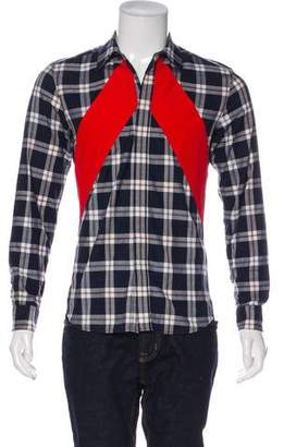 Givenchy Striped-Accented Plaid Shirt