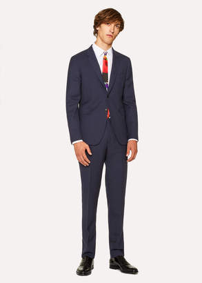 Paul Smith The Kensington - Men's Slim-Fit Navy Wool 'A Suit To Travel In'