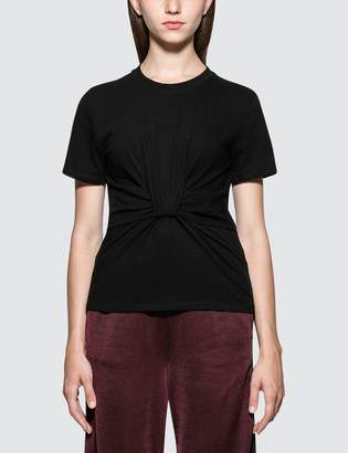 Alexander Wang.T Highwaist Jersey T-Shirt with Twist Front Detail