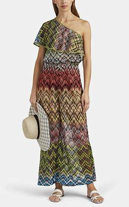 Missoni Mare Women's Metallic Geometric Crochet Jumpsuit