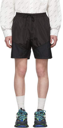 Juun.J Black The Altered Tech Shorts