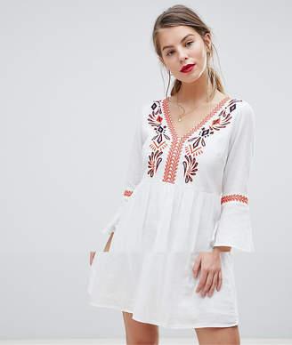 Vila Embroidered Smock Dress