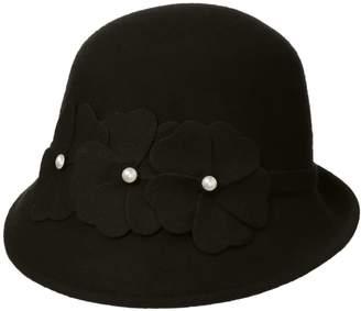 Collection XIIX Ltd. Women's Pearl Flower Cloche Hat