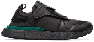 adidas black futurepacer leather sneakers