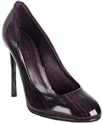 Yves Saint Laurent purple streaked patent 'Nicole' stiletto pumps