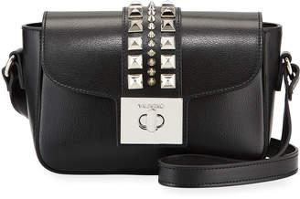 Mario Valentino Valentino By Yasmine Studded Leather Flap Top Bag