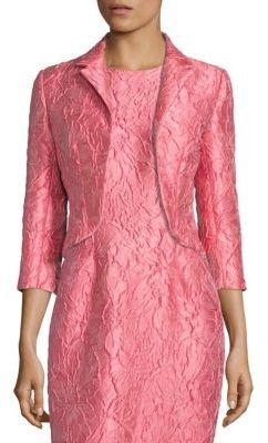 Carmen Marc Valvo Jacquard Open-Front Jacket $395 thestylecure.com