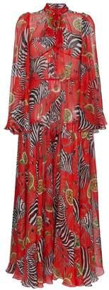 Dolce & Gabbana zebra and lemon dress
