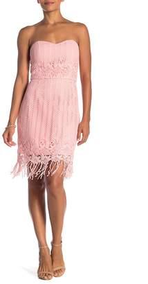 Minuet Sweetheart Neck Crochet Tasseled Dress