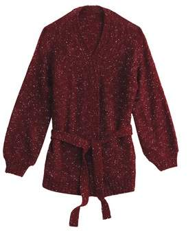 Next Womens Burgundy Knitted Cardigan