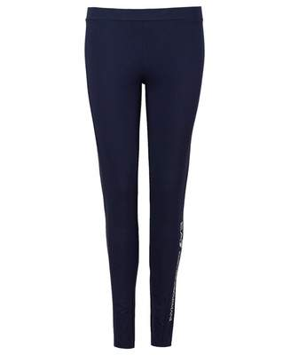Ea7 Logo Series Stud Leggings Colour: NAVY, Size: XS
