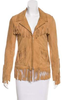 Doma Fringe-Trimmed Zip-Up Jacket