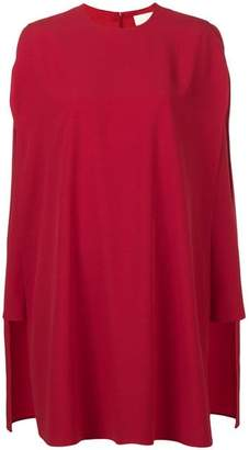 Sara Battaglia Flared Cape Dress