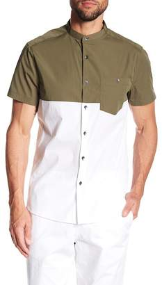 Kenneth Cole New York Colorblock Short Sleeve Regular Fit Shirt