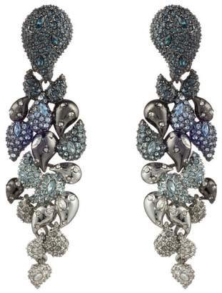 Alexis Bittar Crystal Encrusted Ombre Paisley Clip Earring