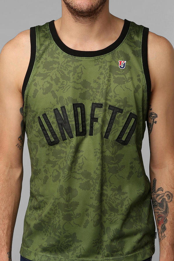 Urban Outfitters Undefeated Floral Jersey Tank Top