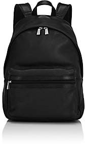 Barneys New York MEN'S LEATHER BACKPACK-BLACK