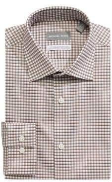 MICHAEL Michael Kors Non-Iron Slim Fit Checkered Dress Shirt