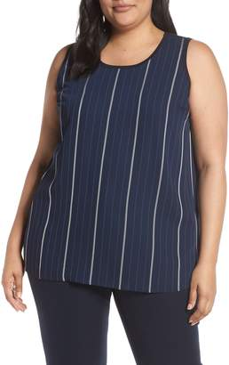 Vince Camuto Mixed Media Stripe Top