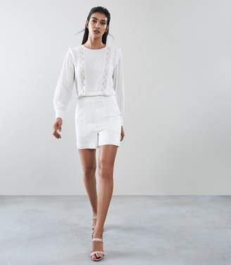 Reiss Amiya Lace Detail Playsuit
