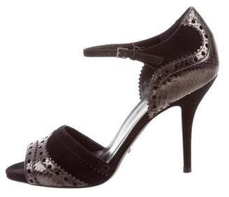 390e482ce Pre-Owned at TheRealReal · Gucci Peep-Toe Snakeskin Pumps