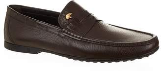 Stefano Ricci Leather Croc Trim Loafers
