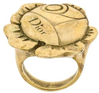 Christian Dior Pre-Owned flower ring