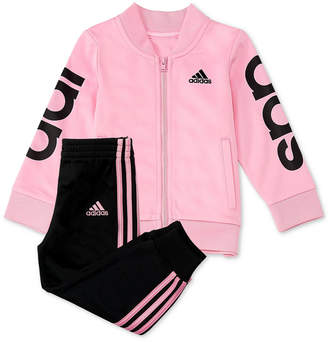 adidas Baby Girls 2-Pc. Jacket & Jogger Pants Set