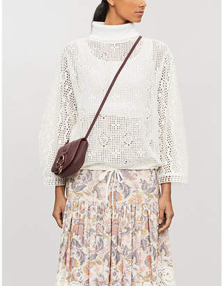 See by Chloe Lace turtleneck knitted jumper