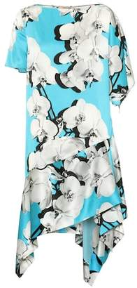 Roberto Cavalli Printed asymmetric silk dress