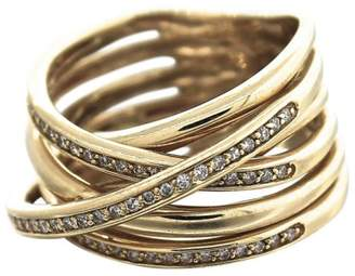 Effy Orbit 14K Yellow Gold & Diamond Cocktail Ring Size 7.5