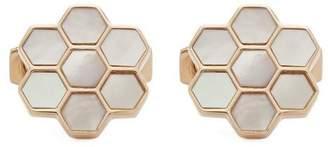Simon Carter Honeycomb Mother Of Pearl Cufflinks