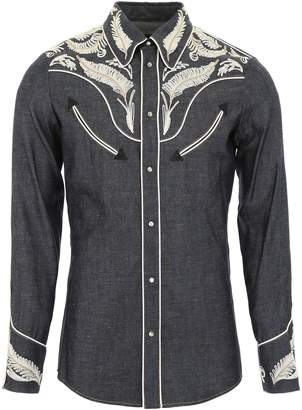 DSQUARED2 Denim Western Shirt With Embroidery