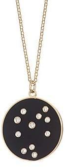 Bare Women's Constellation Sagittarius Diamond Enamel Pendant Gold Necklace